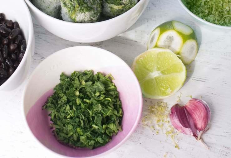 Ingredients for Popeye's Black-bean Stew Baby Freindly Vegan stew babies will love