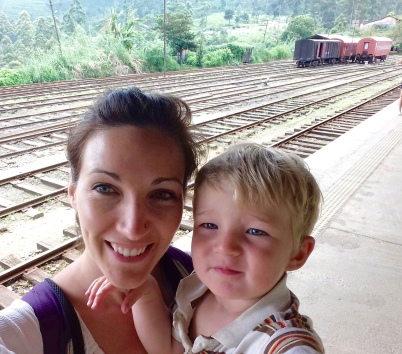 Waiting at Nuwara Eliya station for our train to Ella
